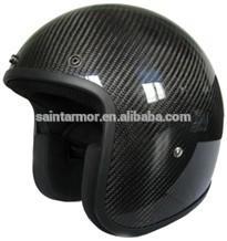 Fiberglass/Carbon 3K open face motorcycle helmet