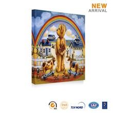 New design custom decorative art bear animal oil painting