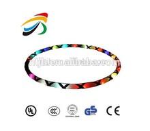 Flashing LED hula hoop for night use