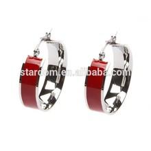 Ali express bijoux cuff earrings red ring earrings