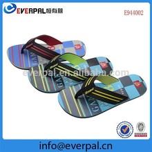 Name Brand Textile EVA Flip Flops Engraved Logo