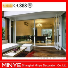 China House Doors Thermal Break Aluminum Profile Commercial Sliding Folding Entry Door with Screen
