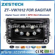 car dvd navigation for volkswagen car dvd navigation system with audio dvd player ZT-VW7012