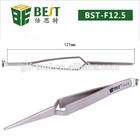 BEST-F12.5 Anti Magnetic Fine Pointed Self Closing X Type Tweezers
