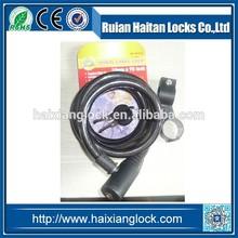 HX-020 Cable lock Big head, aluminum core, iron key,Belt clip