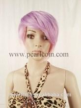100% Synthetic Kanekalon Toyokalon Japanese Fiber Fancy Purple Colored Cosplay Wig
