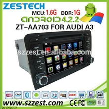 ZESTECH Dashboard Placement and Bluetooth,GPS,MP3 / MP4 ,Radio Tuner,Touch Screen,TV Combination car dvd for Audi A3