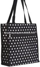 dots printed large bulk tote bags
