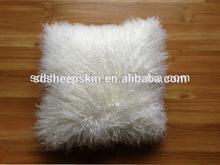 Real Tibetan Sheepskin Fur Pillow Cushion Cover