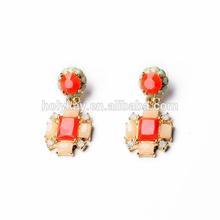 orange pendant earrings fancy arts acrylic items