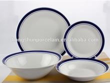 dinnerware blue white/dishwasher safe dinnerware/dinnerware sets handmade