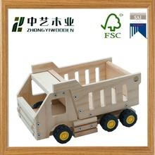 new design DIY mini wooden educational trucks toy