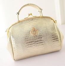 2015 Fashion Snake pattern Gold silver Crown Totes bag