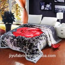 flower design blanket/mink polyester blankets/king size mink blankets wholesale