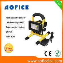 Dimmable Outdoor 10w Rechargeable Emergency Led Flood Light