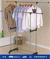 de aceroinoxidable de metal estante de la ropa de ahorro de espacio