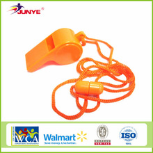 Hot sale wholesale plastic whistle with lanyard