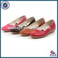 colorido cuero de las señoras zapatos fabricados en el brasil
