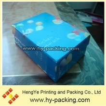 Sweet blue smooth paper gift box,sky balloons theme