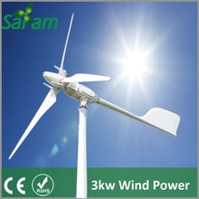 High Quality 3KW Grid Tie Wind Turbine Variable Pitch Type