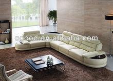 2014 Modern Design Top Grain Leather Sectional Sofa Furniture