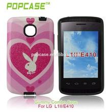 factory wholesale pc+tpu case for lg optimus l1 ii e410