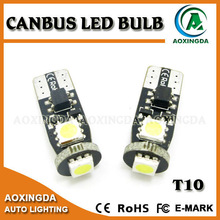 super bright T10 3SMD CANBUS LED bulb