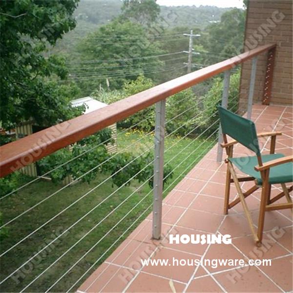 Balcon ext rieur c ble cl ture pour maison de campagne - Balustrade pour terrasse exterieure ...