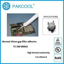 PAKCOOL thermal conductivity elastic caulk silicon adhesive for power supply