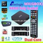 Mx2 amlogic 8726 mx tv box dual core mx smart box Gbox XBMC full loaded add ons
