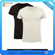 High quality blank black t shirts men and woman