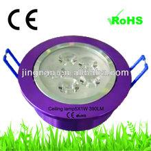 hot Warm white Ceiling lamp 5X1W 220-240V led down light