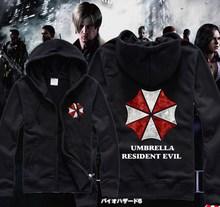 2014 Rushed Regular Zipper Active Knitted Cotton New Biohazard Umbrella Resident Evil hoodies sweatshirt