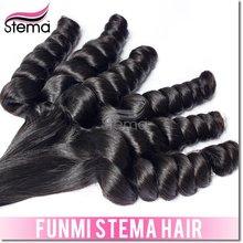 12-30inch Cheap Bouncy Curl Romance curl virgin indian remy hair 18-20-22 inch funmi hair french curl hair extension