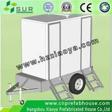 العربات المتنقلة المراحيض المحمولة المستخدمة للبيع/ البيئة-- ودية المرحاض المحمول مع نظام إعادة تدوير المياه