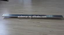 Audemar B série dobra Design de ponta pequeno inclinado canal de aço inoxidável Base de tampa do dreno