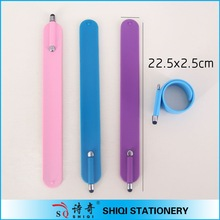 China Funny silica gel stylus pen bracelet pen