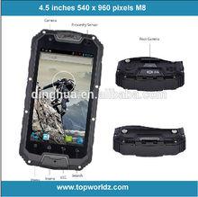 Four core waterproof smartph M8 4.5 inch IP68 waterproof phone with walkie talkie dual card interphone