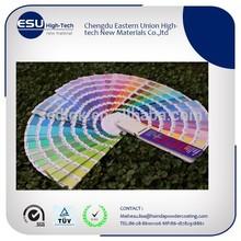 Pantone RAL Colors Electrostatic Powder Coating paint
