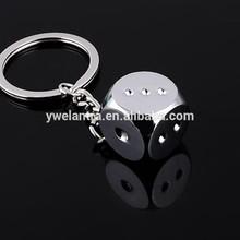2014 Custom Cheap Zinc-alloy Dice Metal Keychain for gift