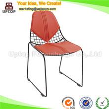 Kırmızı deri yemek kızak tabanı dekoratif döküm sandalyeler( sp- mc026)
