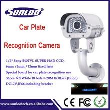 car license camera Waterproof ir varifocal lens plate number surveillance camera