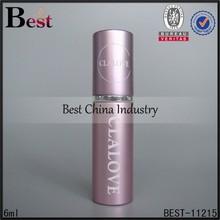 5/6ml pen perfume atomizer, alibaba china pen shaped perfume bottle, lastest type pen perfume spray for 2015, logo design spraye