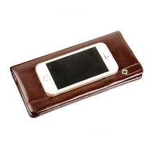 men/male/gentlemen leather wallets/ top layer cowhide/OEM/clip/ China factory outlet/wholesale/long/vintage/business/practical/c