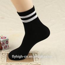 Custom Logo Stripe Pattern Cotton Sport Basketball Socks