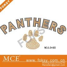 Panthers paw print wholesale rhinestone