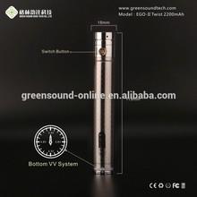 Electronic cigarete best twist battery ego-twist GS ego-II twist battery 2200mah