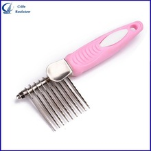 PET Asymmetric Steel Pet Hair Comb for Dog Cleaning Brush for Long-haired Dog Combs