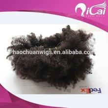 Fast shipping natural black 100% human hair weave afro kinky curly virgin hair