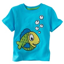 new fashion summer kids t shirt with fish